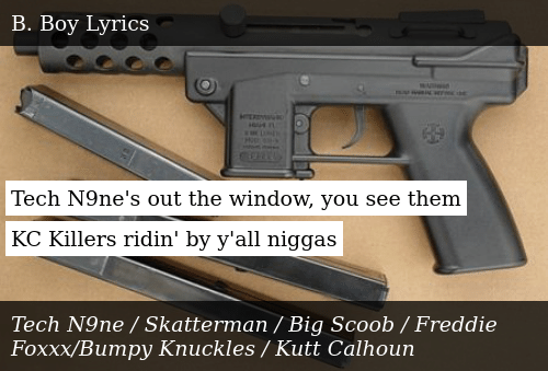 Tech N9ne's Out the Window You See Them KC Killers Ridin' by Y'all