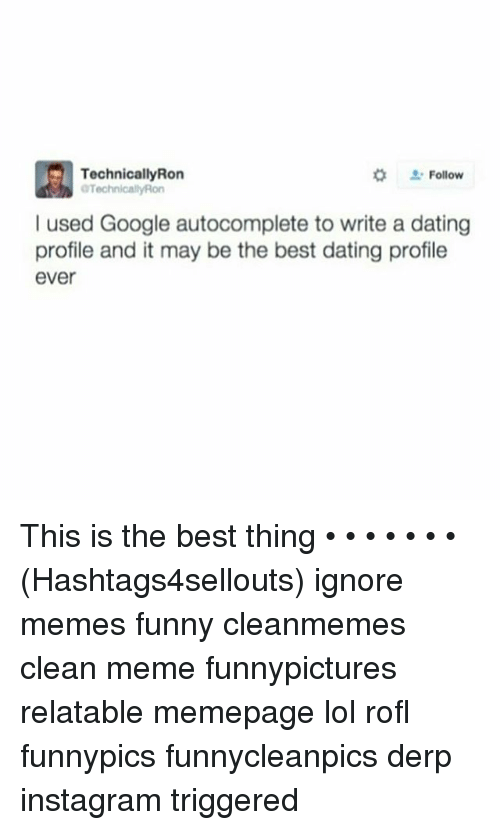 Autocomplete dating profile