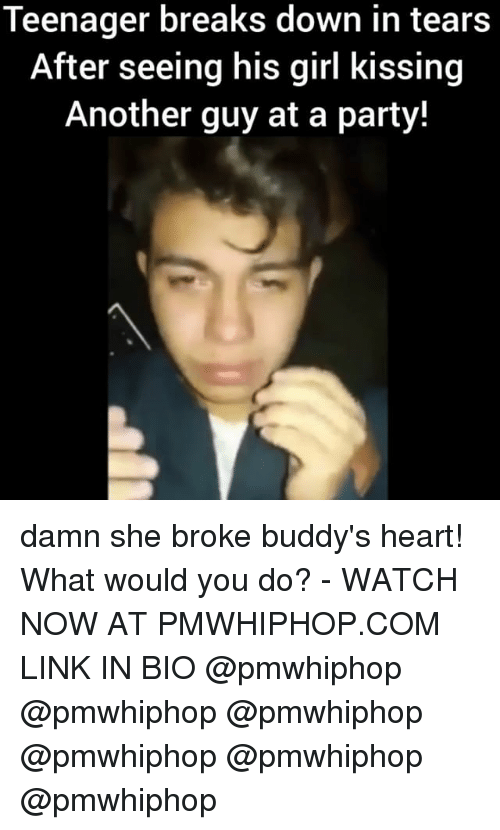 Memes, Party, and Girl: Teenager breaks down in tears  After seeing his girl kissing  Another guy at a party! damn she broke buddy's heart! What would you do? - WATCH NOW AT PMWHIPHOP.COM LINK IN BIO @pmwhiphop @pmwhiphop @pmwhiphop @pmwhiphop @pmwhiphop @pmwhiphop