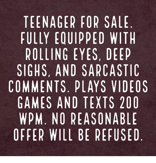 teenager for sale fully equipped with rolling eyes deep sighs 15097359 teenager for sale fully equipped with rolling eyes deep sighs and