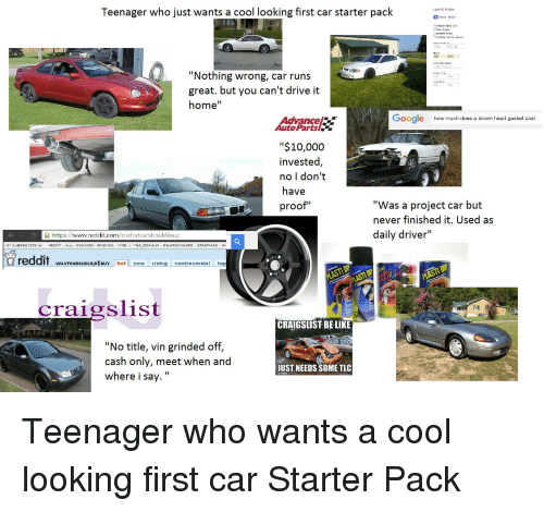 Be Like, Cars, And Craigslist: Teenager Who Just Wants A Cool Looking First