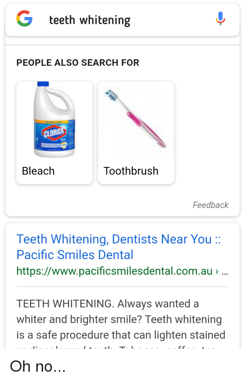 Teeth Whitening People Also Search For Cloro Bleach Toothbrush