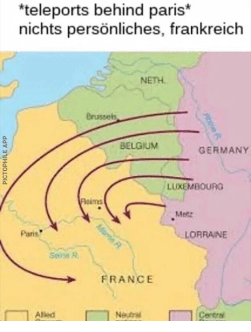 Map Of Germany And Luxembourg.Teleports Behind Paris Nichts Personliches Frankreich Neth Belgium