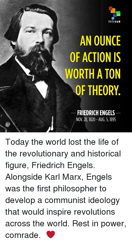 the lives and ideologies of karl maryx and friendrich engels Marx, engels, and capitalism karl marx and friedrich engels believed the main theme was the real conditions of their lives and their relations with their.