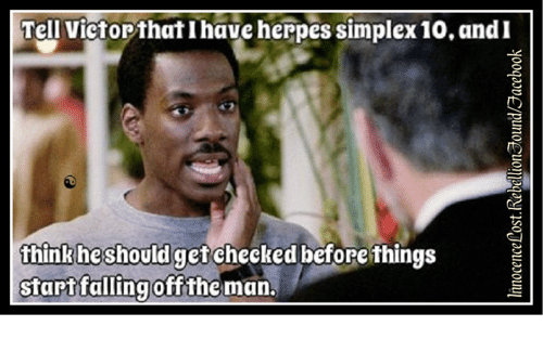 how does a man know he has herpes