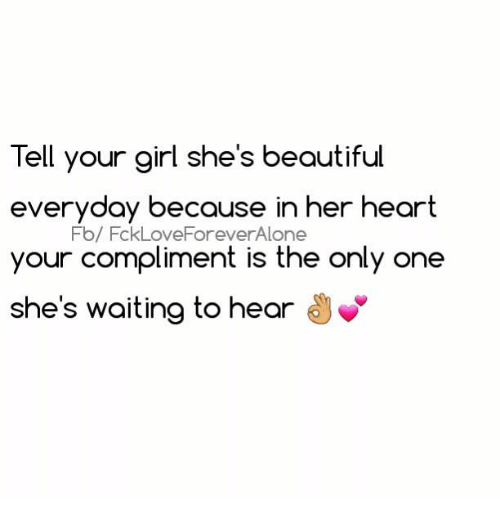 Best Way To Tell A Girl She Beautiful
