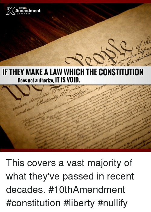 Memes Cons Ution And Covers Tenth Amendment Center If They Make A Law Which