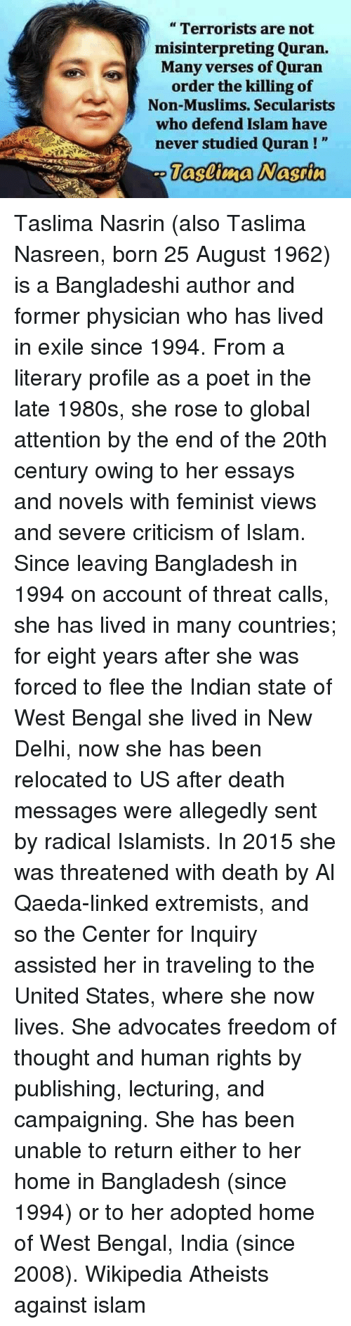 funny taslima nasreen memes of on a grain of salt memes and bengals terrorists are not misinterpreting quran many verses of