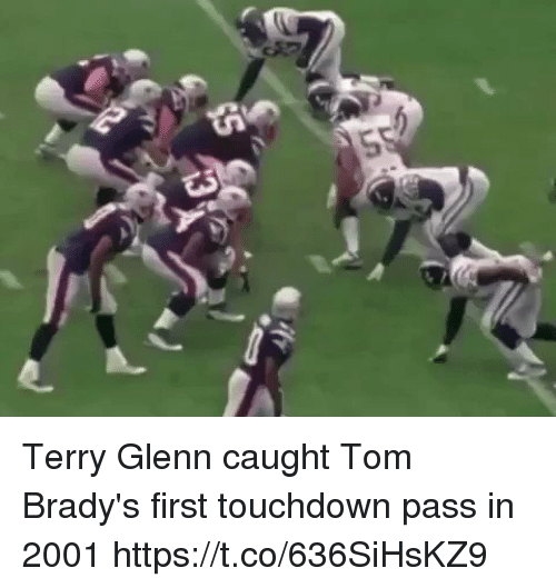 Memes, 🤖, and First: Terry Glenn caught Tom Brady's first touchdown pass in 2001 https://t.co/636SiHsKZ9