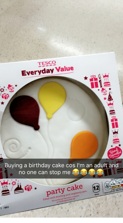 Anaconda Birthday And Party TESCO Everyday Value Buying A Cake Cos L