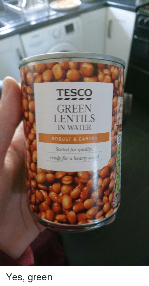 Tesco Green Lentils In Water Robust Earthy Sorted For