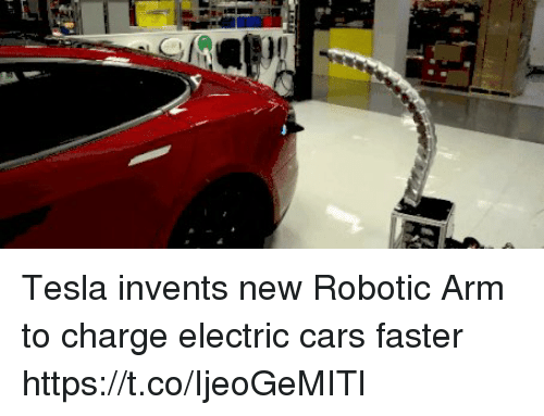 Tesla Invents New Robotic Arm To Charge Electric Cars Faster