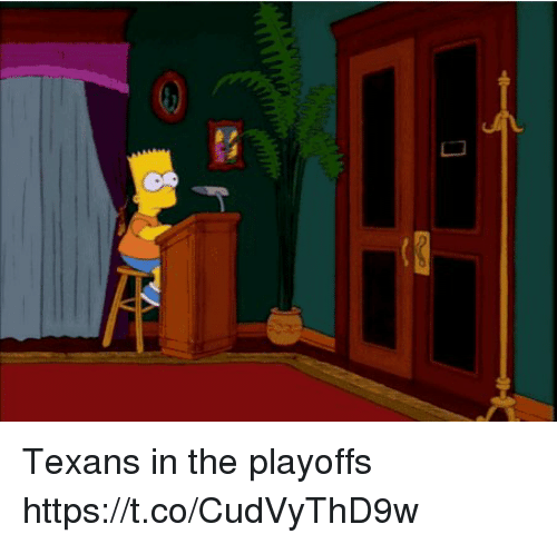 Memes, Texans, and 🤖: Texans in the playoffs https://t.co/CudVyThD9w