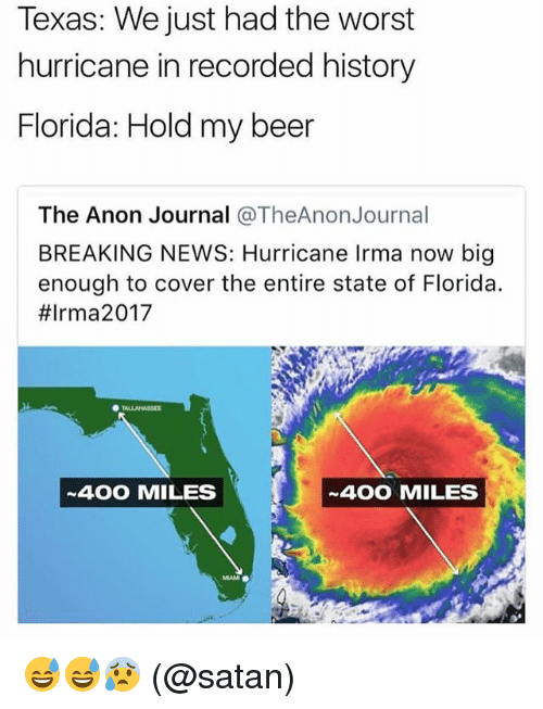 texas we just had the worst hurricane in recorded history 27576741 ✅ 25 best memes about anon anon memes