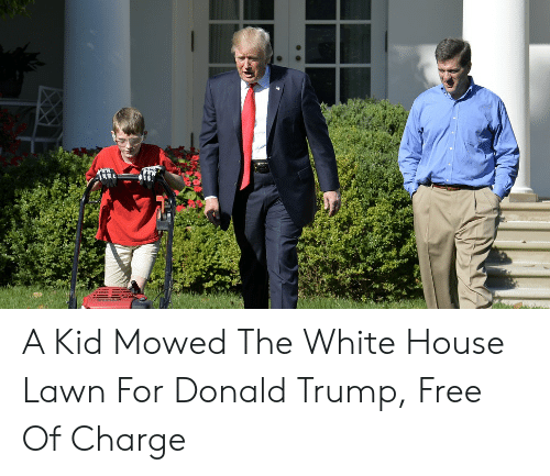 Th A Kid Mowed The White House Lawn For Donald Trump Free Of