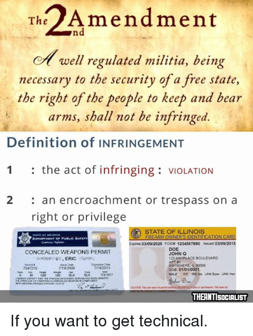 Militia Bear And Definition Th Amendment Ea Well Regulated Militia Being Necessary