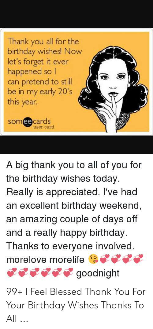 Groovy Thank You All For The Birthday Wishes Now Lets Forget It Ever Personalised Birthday Cards Paralily Jamesorg
