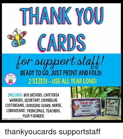 graphic relating to Bus Driver Thank You Card Printable known as THANK Oneself Playing cards Organized In the direction of Move Accurately PRINT AND FOLD! 2 Measurements