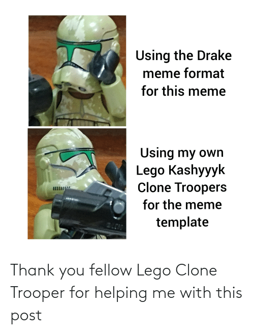 Lego, Reddit, and Thank You: Thank you fellow Lego Clone Trooper for helping me with this post