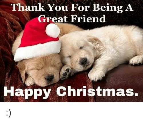 Thank You For Being A Great Friend Happy Christmas Meme On Meme