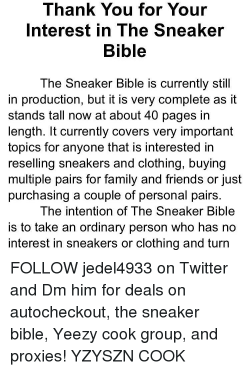 139d513f57e Thank You for Your Interest in the Sneaker Bible the Sneaker Bible ...