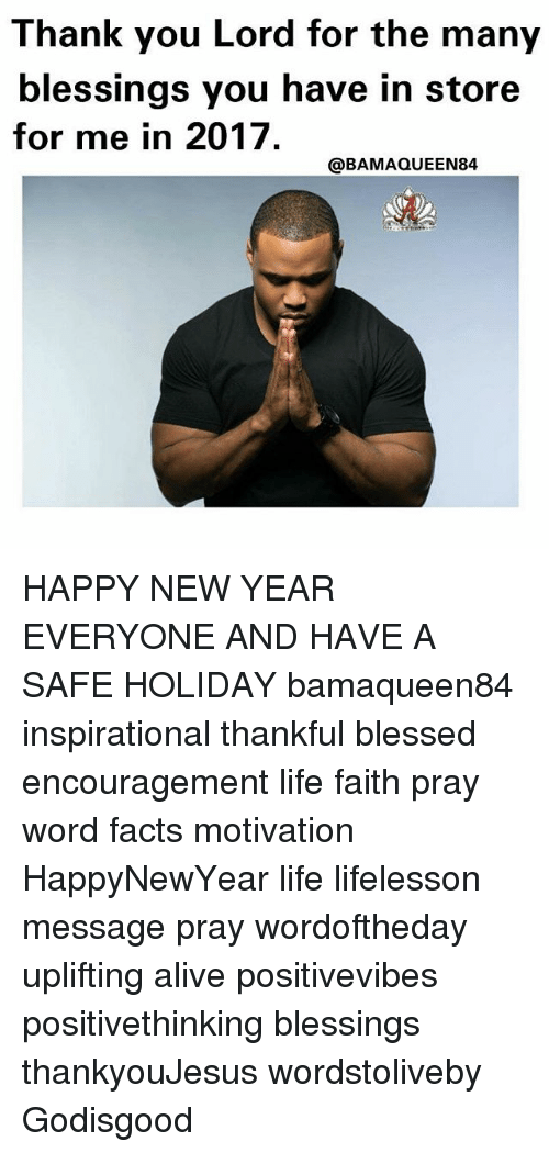 Thank You Lord for the Many Blessings You Have in Store for Me in ...