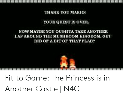 Thank You Mario Your Quest Is Over Nowmaybe You Oughta Take