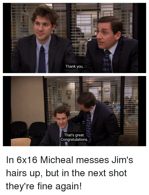 Thank You That's Great Congratulations | the Office Meme ...
