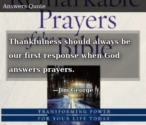 Thankfulness Should Always Be Our First Response When God