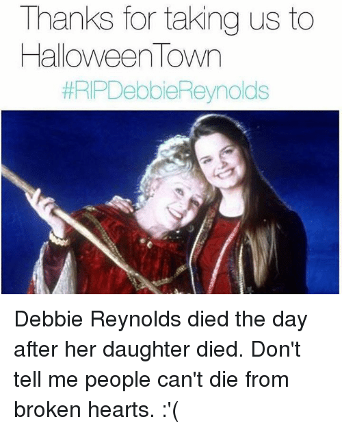 Thanks for Taking Us to Halloween Town #RIPDebbie Reynolds Debbie ...