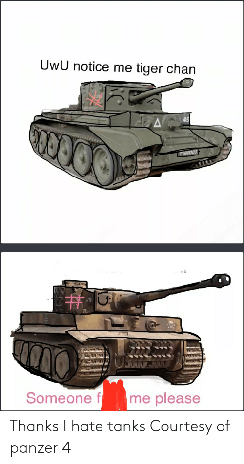 Tanks, Panzer, and Hate: Thanks I hate tanks Courtesy of panzer 4