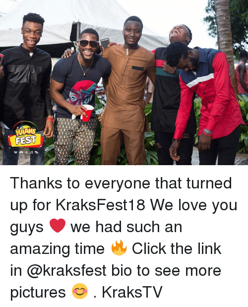 Click, Love, and Memes: Thanks to everyone that turned up for KraksFest18 We love you guys ❤️ we had such an amazing time 🔥 Click the link in @kraksfest bio to see more pictures 😊 . KraksTV