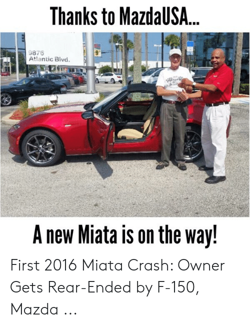 Thanks to MazdaUS 9876 Atlantic Blvd a New Miata Is on the
