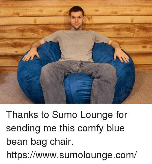 thanks to sumo lounge for sending me this comfy blue bean bag chair