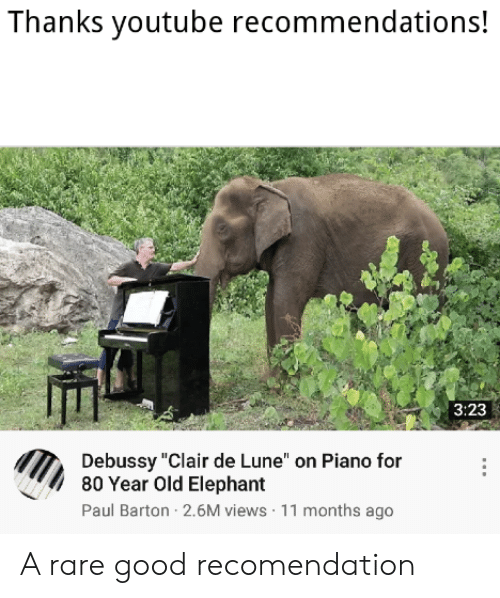 Thanks Youtube Recommendations! 323 Debussy Clair De Lune on