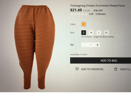 195eec04a69ad Thanksgiving, Chicken, and Reviews: Thanksgiving Chicken Drumsticks Pleated  Pants $21.49 $33.88 37%