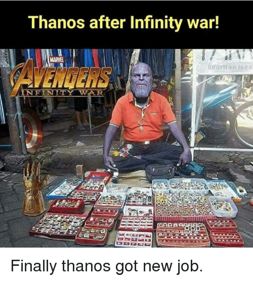 Funny Avengers And Infinity Thanos After Infinity War Marvel Avengers