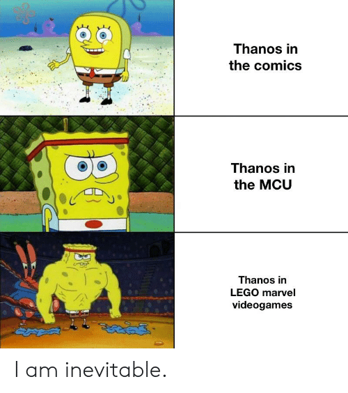 Thanos in the Comics Thanos in the MCU Thanos in LEGO Marvel