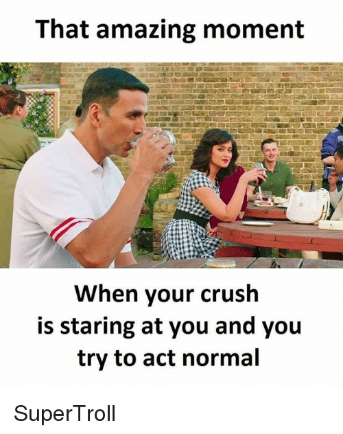 what if your crush stares at you