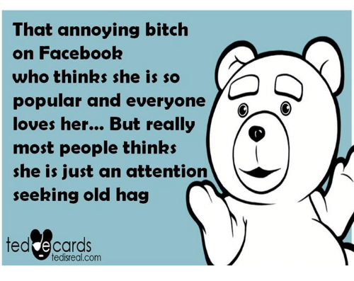 facebook is for attention seekers