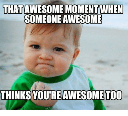 you are too awesome