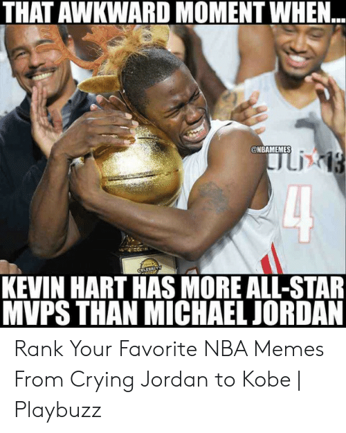 THAT AWKWARD MOMENT WHEN CELEBRITY KEVIN HART HAS MORE ALL-STAR MVPS