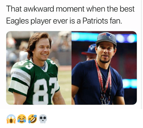 Philadelphia Eagles, Nfl, and Patriotic: That awkward moment when the best  Eagles player ever is a Patriots fan. 😱😂🤣💀