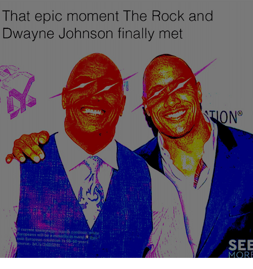 That Epic Moment The Rock And Dwayne Johnson Finally Met Lf