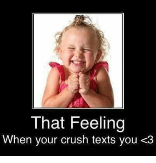 that feeling when you see your crush