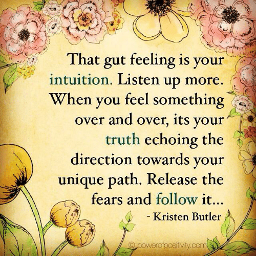 listening to your gut feeling