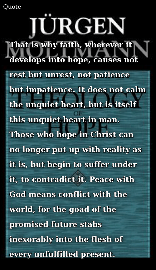 That Is Why Faith Wherever It Develops Into Hope Causes Not
