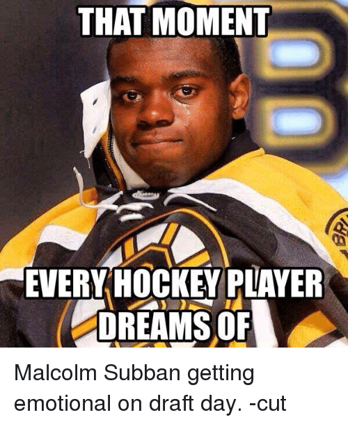That Moment Every Hockey Player Dreams Of Malcolm Subban Getting