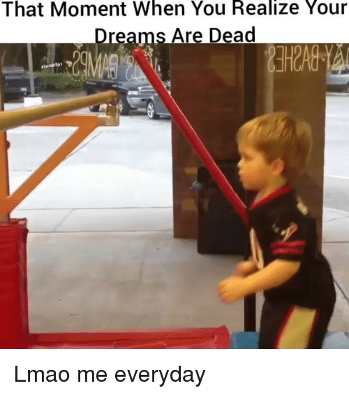 Funny, Lmao, and Dreams: That Moment When You Realize Your  Dreams Are Dead Lmao me everyday