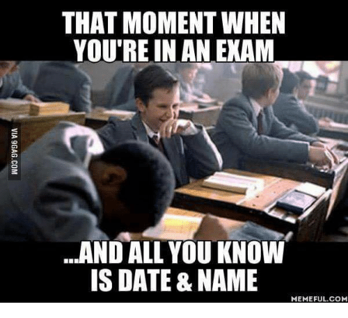 Image result for that moment when exam